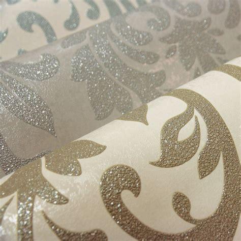 schöne eigenschaften arthouse lucca damast tapete entenei mokka silber