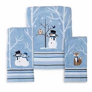 snowman bath towels winter friends seasonal bath towel collection bed bath