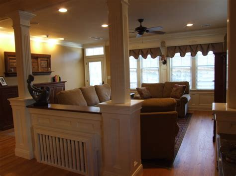 built in room dividers room divider hides built in radiator traditional
