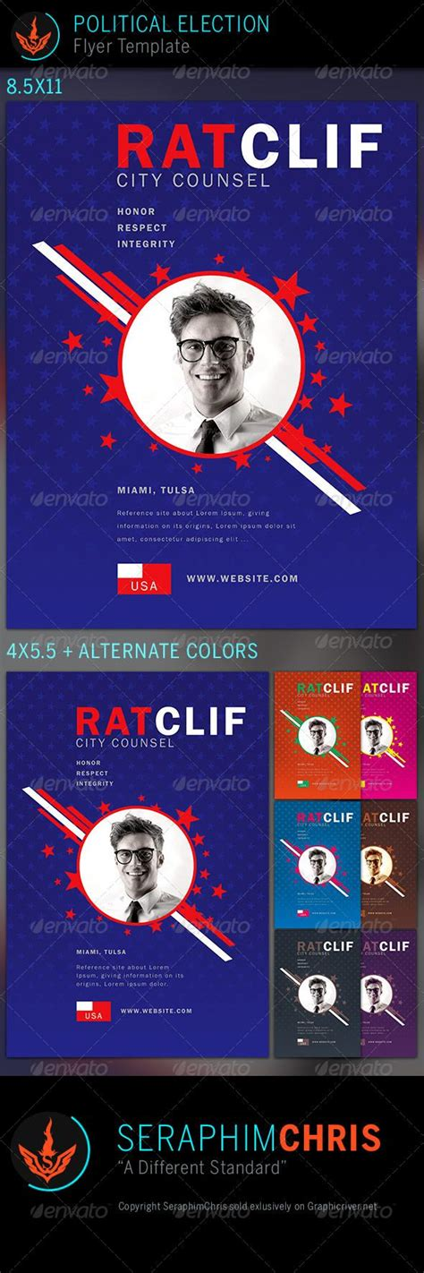 Political Election Flyer Template 3 Flyer Template Template And Political Logos E Voting Website Template