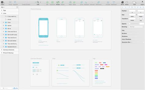 sketch ios template 30 free mobile ux web wireframe templates