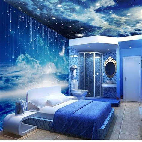Galaxy Bedroom Wallpaper by Beibehang Photo Wallpaper 3d Stereo Personalized K