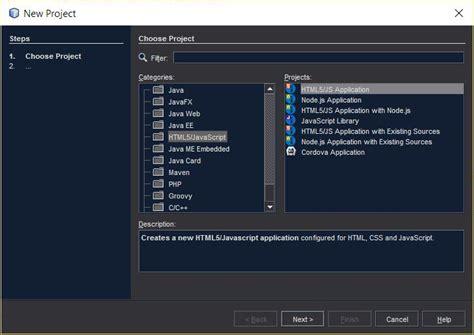javascript keylistener tutorial node js netbeans 8 1 html5 javascript project types