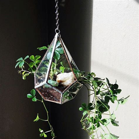 Glass Hanging Planters by Hanging Glass Planter Blue Sky