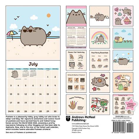 Cat Calendars Pusheen The Cat 2016 Wall Calendar