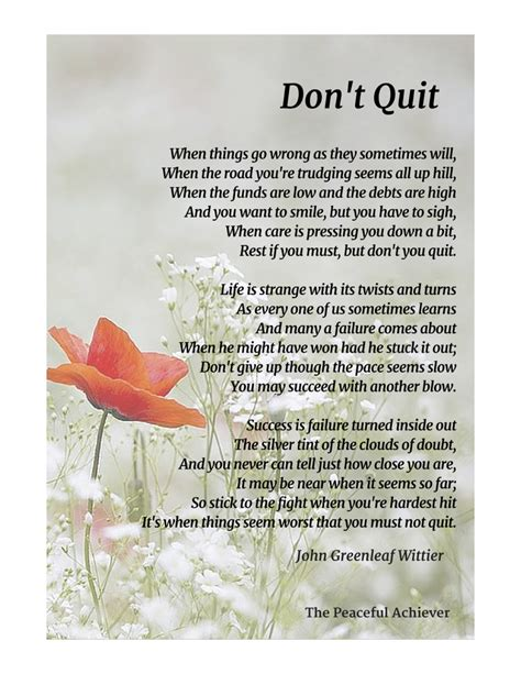 Don T Quit don t quit an inspiring poem by greenleaf wittier