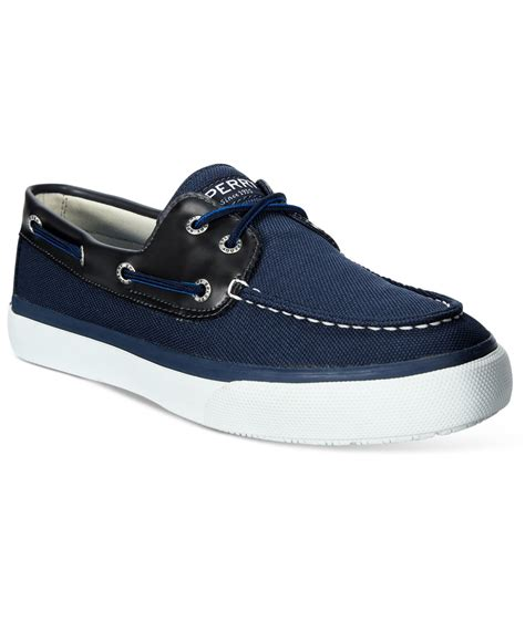 blue sperry boat shoes sperry top sider men s a o 2 eye prints boat shoes in blue
