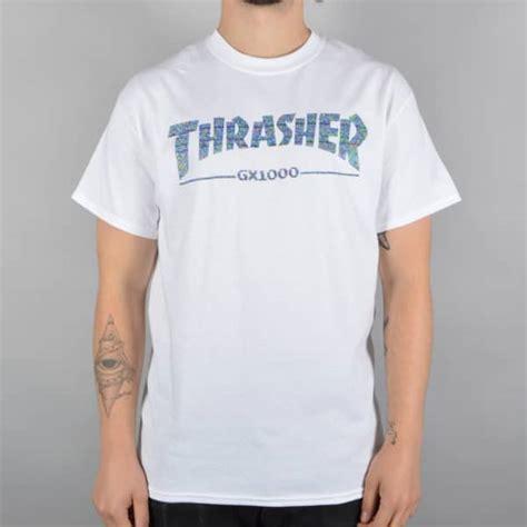 Tshirt Skateboards Thrasher White Thrasher X Gx1000 Skate T Shirt White Skate Clothing