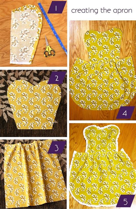 pattern for simple apron diy apron easy sewing project projects pinterest