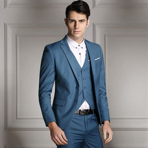 Mens Wedding Attire Vest Only by New Fashion S Formal Wedding Dress Suits Slim Fit