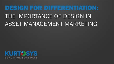 design management and marketing design for differentiation the importance of design in