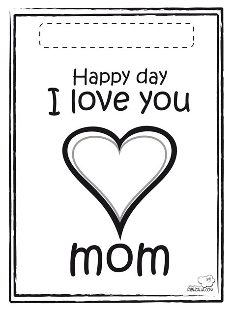 Imagenes En Ingles Para Una Mama | tarjeta x mama dibujalia dibujos para colorear