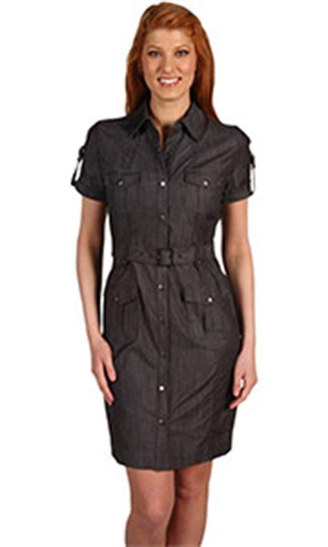 Denim Black Belted Dress calvin klein denim belted shirt dress youlookfab store