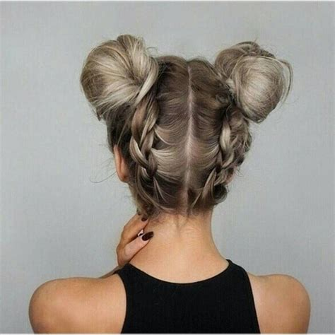 different hairstyles with buns double dutch braided bun updo hairstyles updo hairstyles