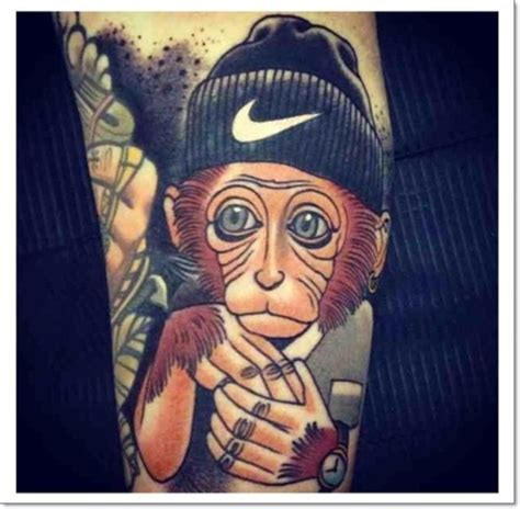 crazy monkey tattoo 30 cool and monkey designs