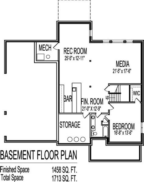 Exceptional 2 Story House Floor Plans With Basement New Home Plans Design