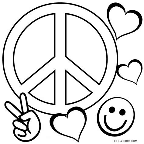 color pages free printable peace sign coloring pages cool2bkids