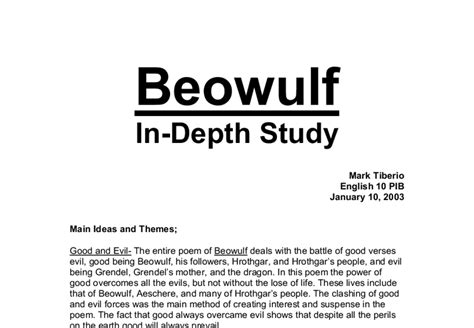 beowulf themes pdf beowulf main ideas and themes a level classics