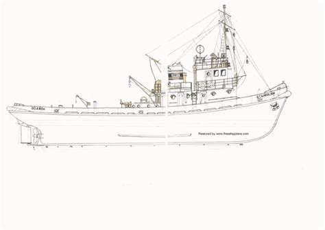 wooden tugboat plans anteo free ship plans