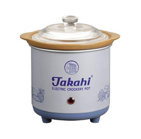 Takahi Cooker 0 7 electric crockery pot blue hr 0 7 litre takahi