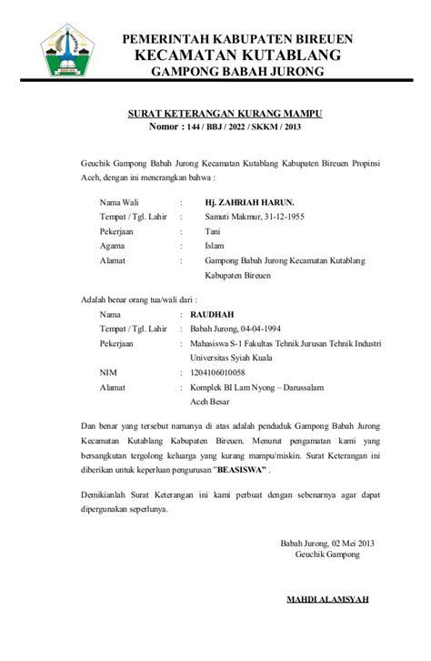 surat izin untuk orang tua surat pernyataan orang tua