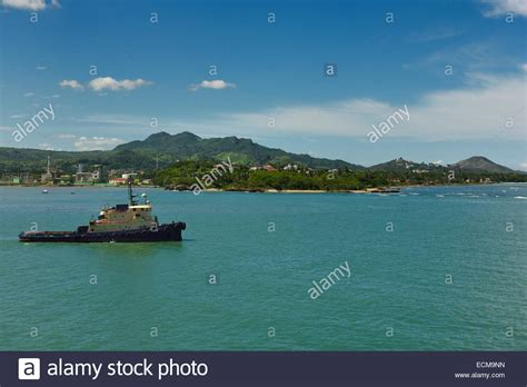 tugboat bay tugboat in puerto plata bay waiting for an incoming