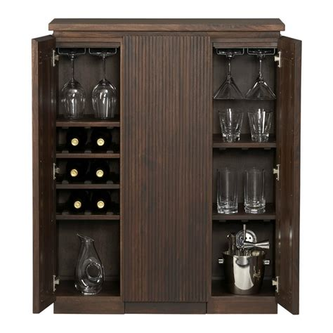 armoire bar cabinet monaco liquor wine rack whiskey glasses storage bar