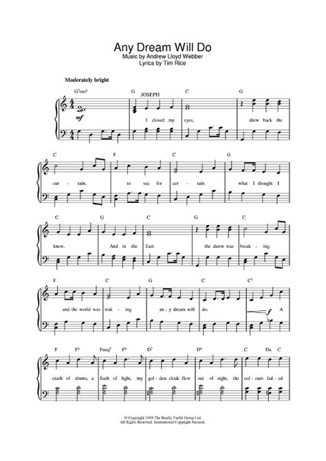 Any Will Do Sheet Any Will Do Sheet For Piano And More Onlinesheetmusic