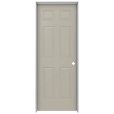Jeld Wen Doors Interior Jeld Wen 28 In X 80 In Molded Smooth 6 Panel Desert Sand Solid Composite Single Prehung