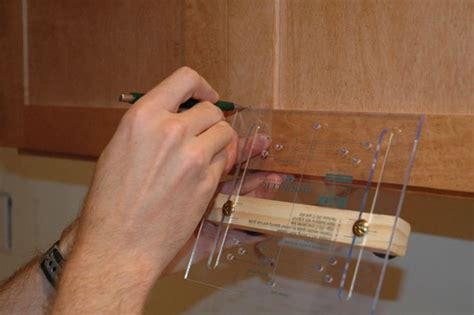 Installing Hardware On Kitchen Cabinets | how to install cabinet door hardware how tos diy