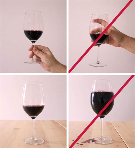 how to hold a wine glass vinha