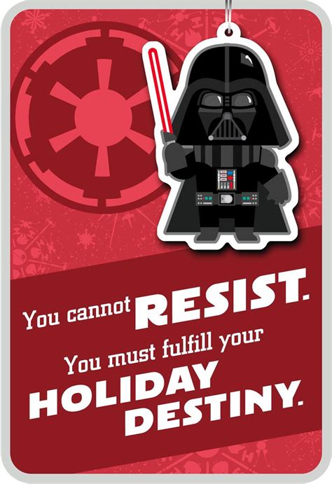 Merry Side Darthder Christmas Card With Ornament End