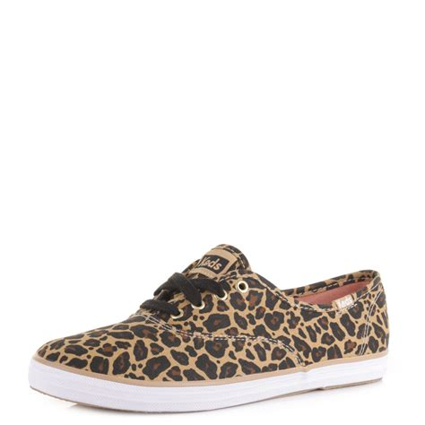 keds leopard sneakers womens keds chion leopard casual animal plimsolls