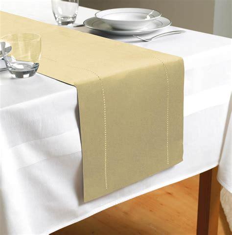 cheap table linen hem stitch table runner kitchen homewares table