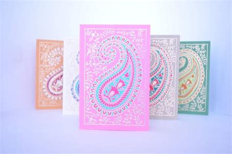 printable greeting cards india paisley blank greeting card set indian wedding cards
