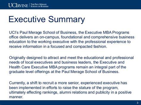 Marketing Strategy For Mba Program by Exle 2 2010 11 Uci Merage Exec Programs Marketing