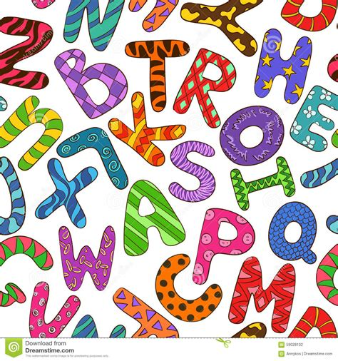 Preschool Seamless Background Stock Photo 169 Lenm 1140638 by Seamless Pattern With Colorful Children Alphabet Stock