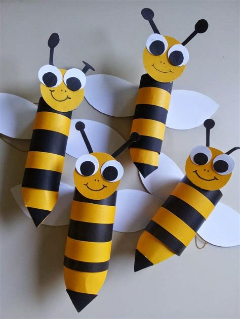 How To Make A Paper Bee - diy animal craft ideas with toilet paper rolls home