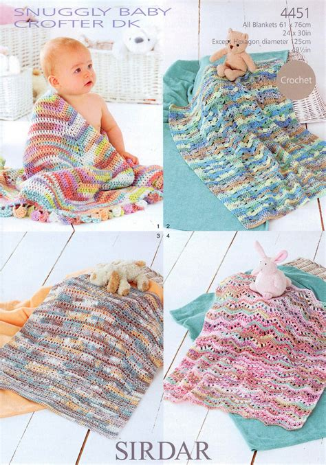 sirdar knitting patterns for children sirdar snuggly baby crofter dk 4451 pattern blankets on sale