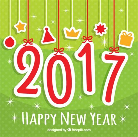 new year green green new year 2016 background vector free