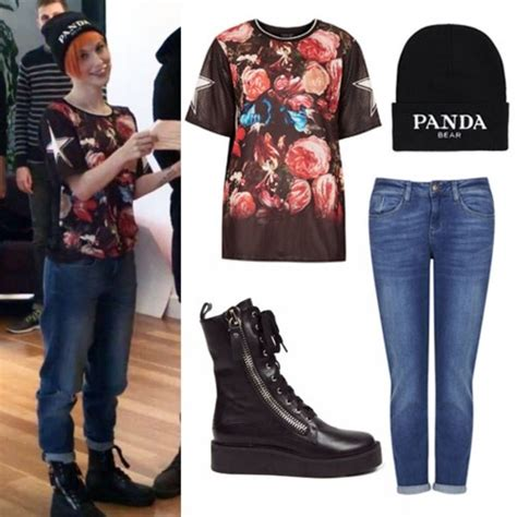 Zara Birdie Sabrina shoes shirt hayley williams roses pink blue