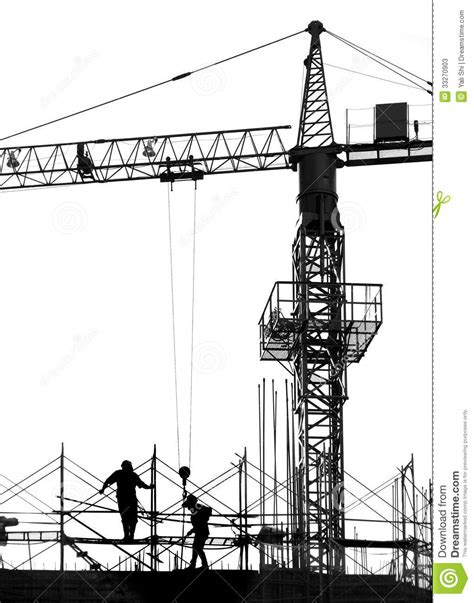 Construction Site Plan building site in silhouette stock photos image 33270903