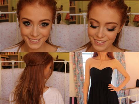 tutorial makeup ginger prom tutorial makeup hair and dress msrosiebea youtube