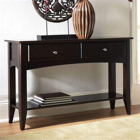espresso sofa table pin by marybeth le on home pinterest