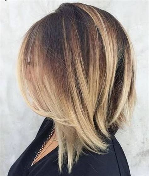 lob shagy hair cutt front layers extra length blond color hairstyle  hair lengths
