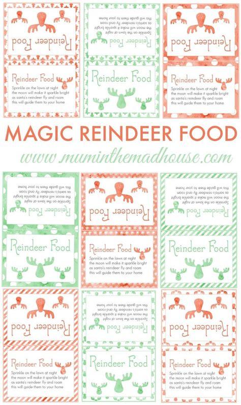 printable magic reindeer food labels diy magic reindeer food the o jays christmas eve and