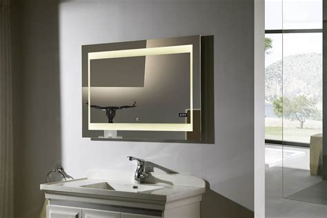 lighted mirrors for bathrooms zen ii lighted vanity mirror led bathroom mirror