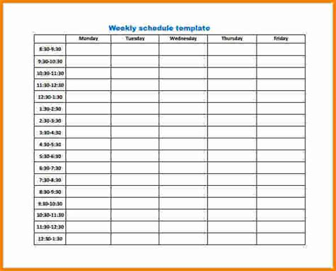 work planner template 9 weekly work schedule template cashier resume