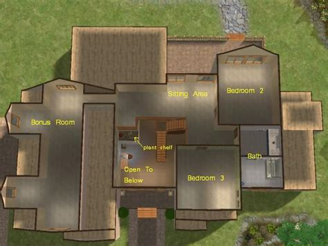 sims 2 floor plans mod the sims mountainview 3 bedroom 2 story home with