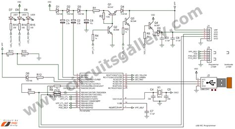 Usb Programer electronics circuits how to build your own usb pic